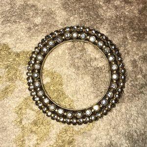 Gold & crystal embellished bangle